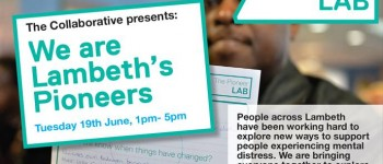 Lambeth Collaborative Pioneer Lab event Tuesday 19th June